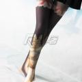 主宰者兔子连裤袜 天鹅绒80D平板连裤袜 黑色印花 COSWZ-001B