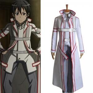主宰者 刀剑神域 桐谷和人 血盟骑士团工会 白色cosplay全套服装