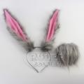 主宰者 疯狂动物城兔耳朵 粉色内里  兔尾巴 DWCED