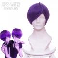 主宰者 宝石之国 双晶紫水晶 33 双胞胎 紫色麻花辫绕头特殊造型款 cos动漫假发 右B456H