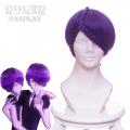 主宰者 宝石之国 双晶紫水晶 84 双胞胎 紫色麻花辫绕头特殊造型款 cos动漫假发 左B456HH