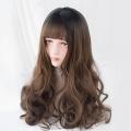 Alice Garden头顶染黑收脸日常哑光长卷发原宿软妹lolita日系假发 AG-038