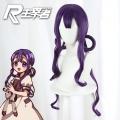 主宰者 地缚少年花子君 赤根葵 混紫色发圈造型 微卷 cos动漫假发 497D