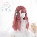 主宰者 原宿软妹 lolita 蛋卷 长卷发 树莓色 哑光自然假发/发套 LOLI-016A